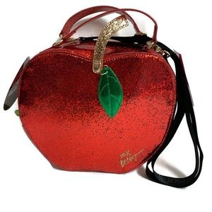 Betsey Johnson Insulated Lunch Tote Red Apple